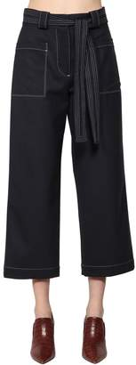 Tory Burch Cropped Light Wool Pants