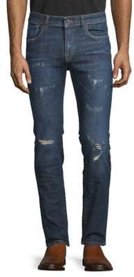 Selected Leon Distressed Slim Fit Jeans