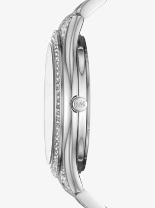 9ed937aa4 Michael Kors Slim Runway Pave Silver-Tone Watch