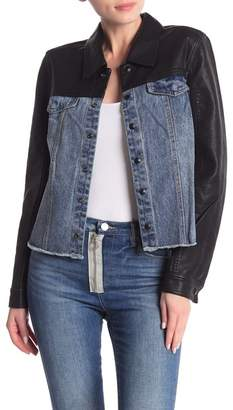 Blank NYC BLANKNYC Denim Faux Leather Denim Jacket
