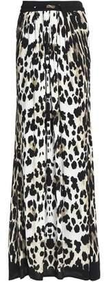Roberto Cavalli Leopard-Print Crepe Maxi Skirt