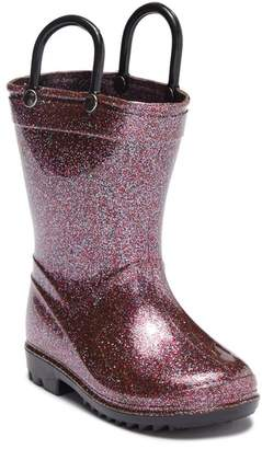 LILLY OF NEW YORK Multi-Colored Glitter Rainboot (Toddler)