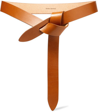 Isabel Marant Lecce Leather Belt - Tan