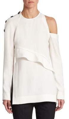 Proenza Schouler Cold-Shoulder Button Top