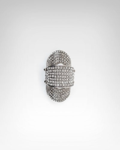Large Crystal & Hinge Armor Ring