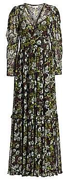 By Ti Mo byTiMo Women's Long-Sleeve Floral Maxi Dress