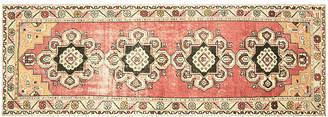 """One Kings Lane Vintage 1960s Turkish Oushak Carpet - 3' x 9'8"""" - Nalbandian"""