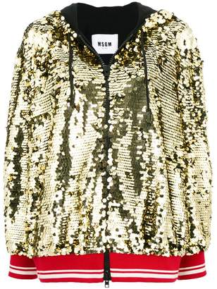 MSGM sequins embellished bomber jacket