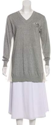 Sacai Luck Long Sleeve Sweater Grey Luck Long Sleeve Sweater