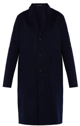 Acne Studios Chad Wool And Cashmere Blend Overcoat - Mens - Navy
