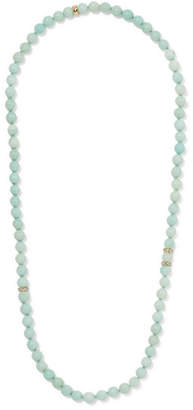 Carolina Bucci Recharmed 18-karat Gold, Amazonite And Tanzanite Necklace
