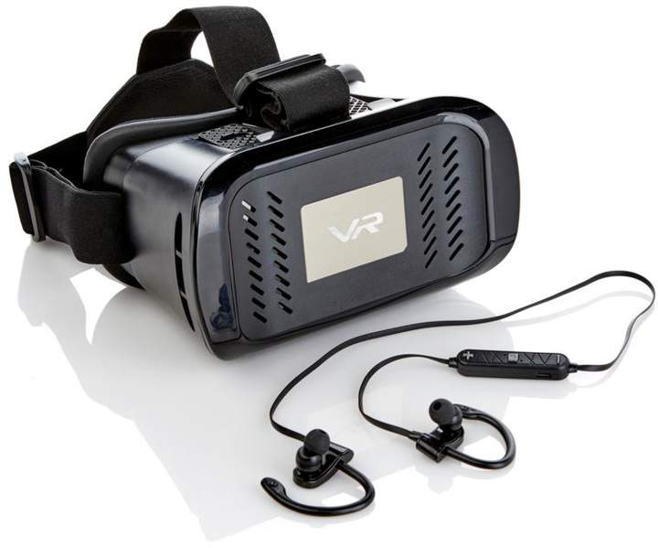 PanoVR Virtual Reality Headset with Wireless Earbud Headphones