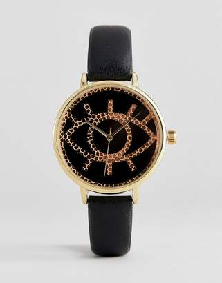 Asos DESIGN watch with textured eye design