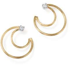 Marco Bicego 18K Yellow Gold Luce Diamond Crescent Stud Earrings - 100% Exclusive