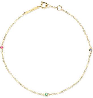 Lee Grace 14-karat Gold Multi-stone Bracelet