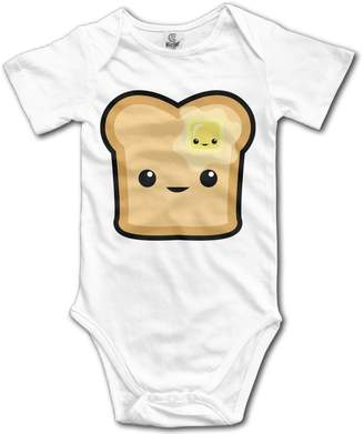 Butter Shoes YEARla Unisex Happy Toast Baby Rompers Baby Onesie Short Slev