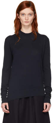 Studio Nicholson Navy Solo Crewneck Sweater