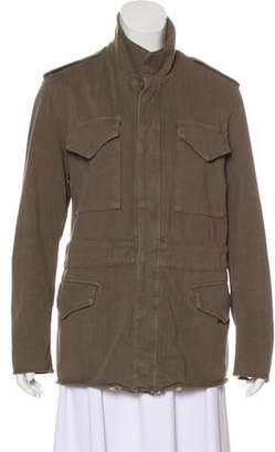 RtA Denim Casual Button-Up Jacket