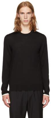 Maison Margiela Black Contrast Cuff Pullover