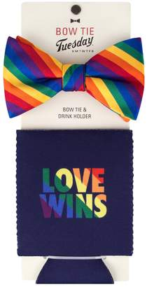 DAY Birger et Mikkelsen Men's Bow Tie Tuesday Pre-Tied Bow Tie & Matching Drink Holder Set