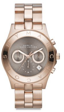 Marc by Marc Jacobs Blade Rose Goldtone Stainless Steel Chronograph Watch $275 thestylecure.com