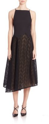 Jason Wu Herringbone Lace Midi Dress $1,995 thestylecure.com
