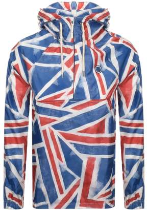 Pretty Green Union Jack Print Overhead Jacket Red