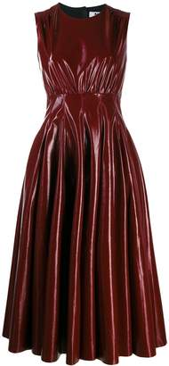 MSGM faux leather midi dress