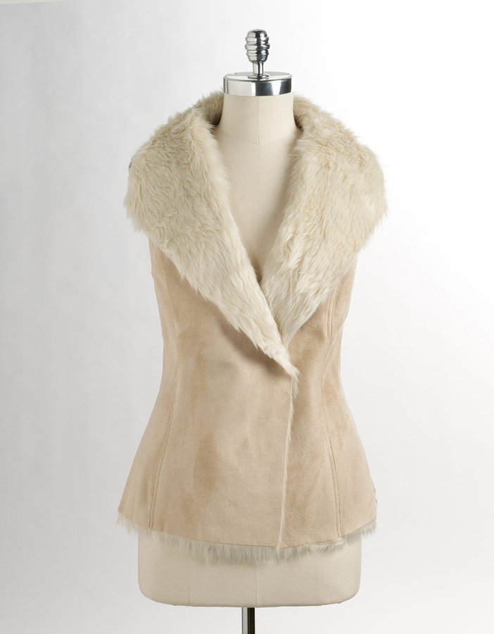DEPT Reversible Faux Shearling Vest