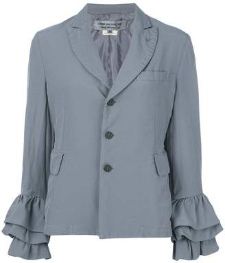 Comme des Garcons frill-trim fitted blazer