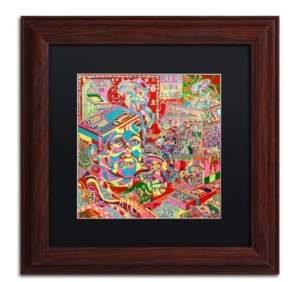 """Trademark Global Josh Byer 'The Gamer Kid' Matted Framed Art - 11"""" x 11"""""""