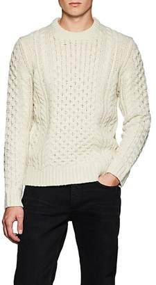 6baa5bfb39 Rag   Bone Men s Trevor Aran Chunky Cable-Knit Wool-Blend Sweater -  Ivorybone