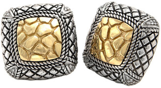 Candela Andrea Tierra Oro 18K & Silver Diamond Earrings