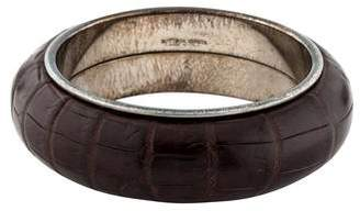 Bottega Veneta Crocodile Bangle