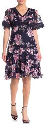 Rabbit Rabbit Rabbit Floral Lace Fit & Flare Dress