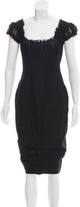 Alexander McQueen Wool Midi Dress
