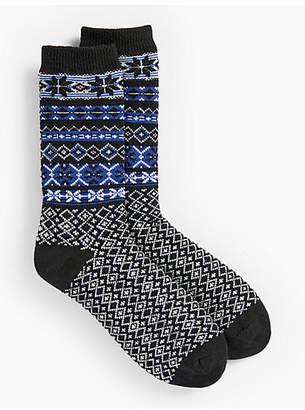Talbots Winter Fair Isle Socks
