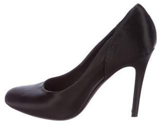 Rochas Satin Round-Toe Pumps