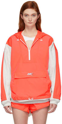Alexander Wang Grey and Orange Nylon Oversized Washed Jacket