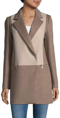Dawn Levy Women's Lila Two-Tone Coat