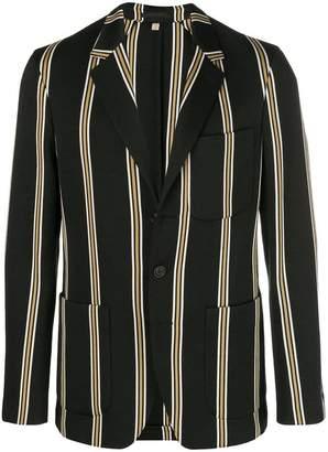 Burberry navy stripe blazer