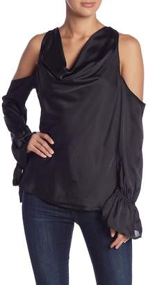 Romeo & Juliet Couture Cowl Neck Long Sleeve Blouse