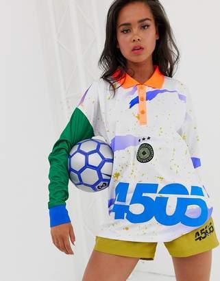 Asos 4505 4505 football t-shirt with long sleeve and collar