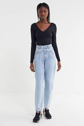 Urban Outfitters Mia Ribbed V-Neck Sweater