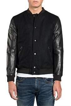 Superdry Varsity Wool Leather Bomber