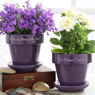 Bed Bath & Beyond Our Family Blooms Flower Pot in Purple