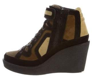 Pierre Hardy Quadri Wedge Sneakers Black Quadri Wedge Sneakers