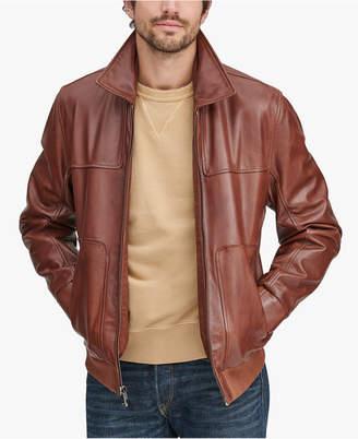 Andrew Marc Men's Shirt Collar Leather Jacket