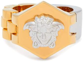 Versace Medusa band and bracelet-link ring
