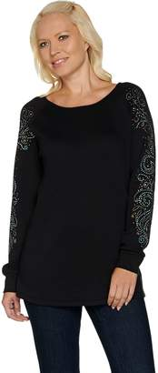 Factory Quacker Rhinestone Chic Raglan Sleeve Tunic
